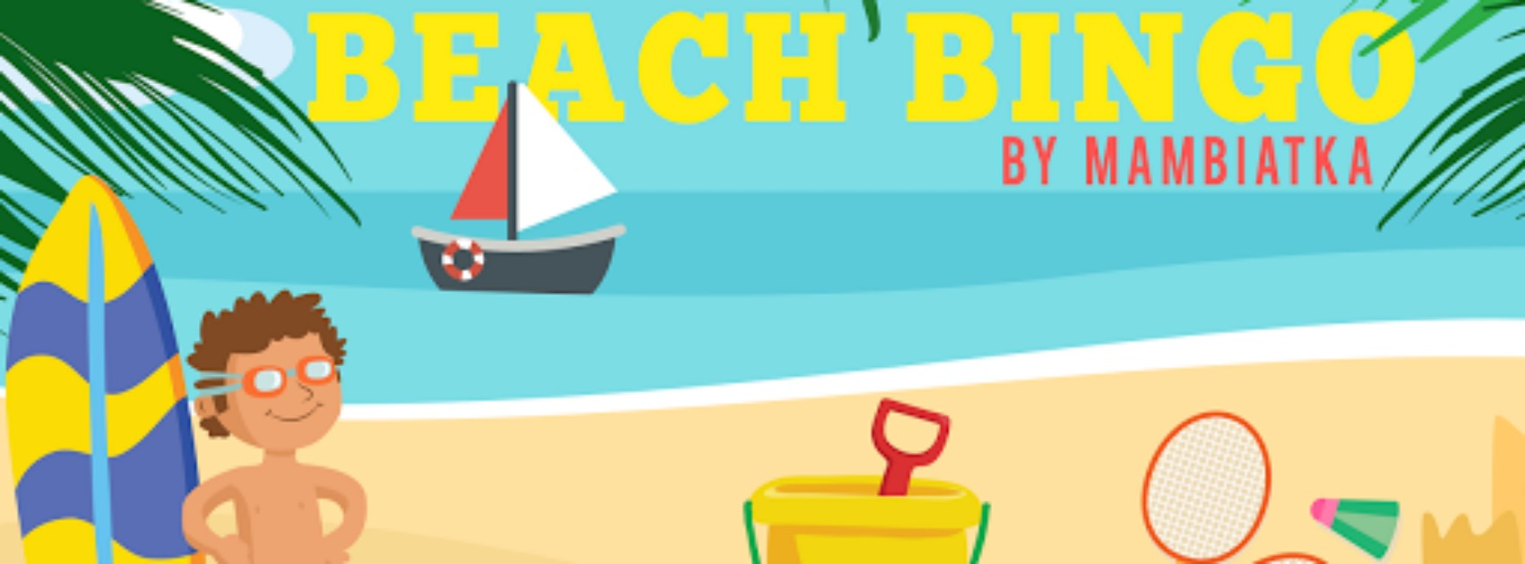 summer beach flashcards bingo